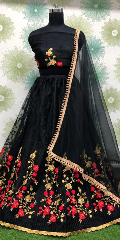 magnificent-black-color-heavy-net-exclusive-fancy-wear-lehenga-choli