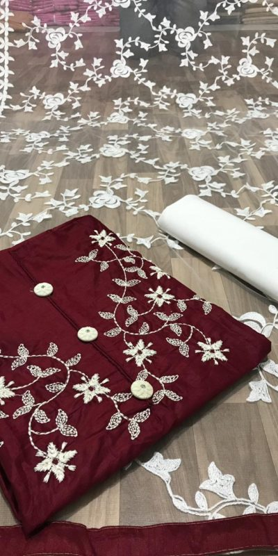 musical-marun-color-cotton-hand-stone-work-designer-salwar-suit