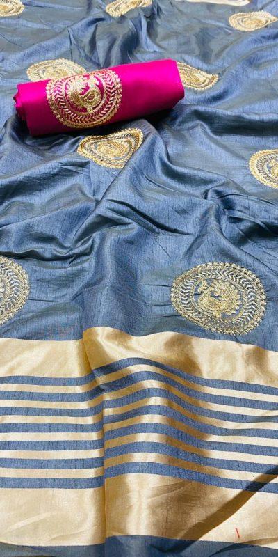 perfect-grey-color-pure-rich-cotton-silk-traditional-wear-classic-saree