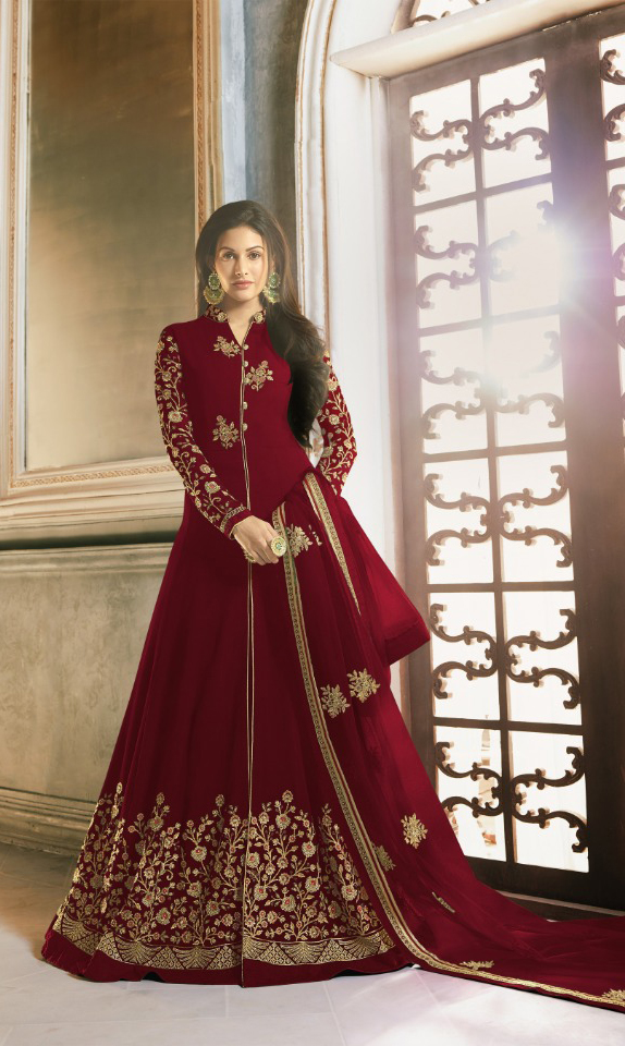 perfect-maroon-color-faux-georgette-with-embroidery-stone-work-anarkali-suit