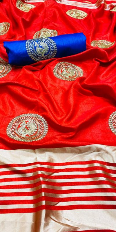 perfect-red-color-pure-rich-cotton-silk-traditional-wear-classic-saree