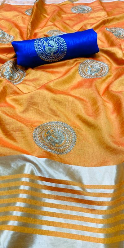 perfect-yellow-color-pure-rich-cotton-silk-traditional-wear-classic-saree