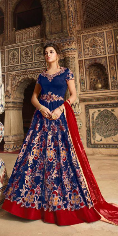 picturesque-blue-color-heavy-net-embroidered-codding-stone-work-sharara-suit