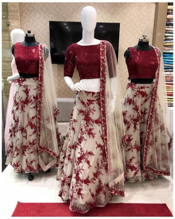 sparkling-maroon-color-heavy-net-all-over-sequence-work-lehenga-choli