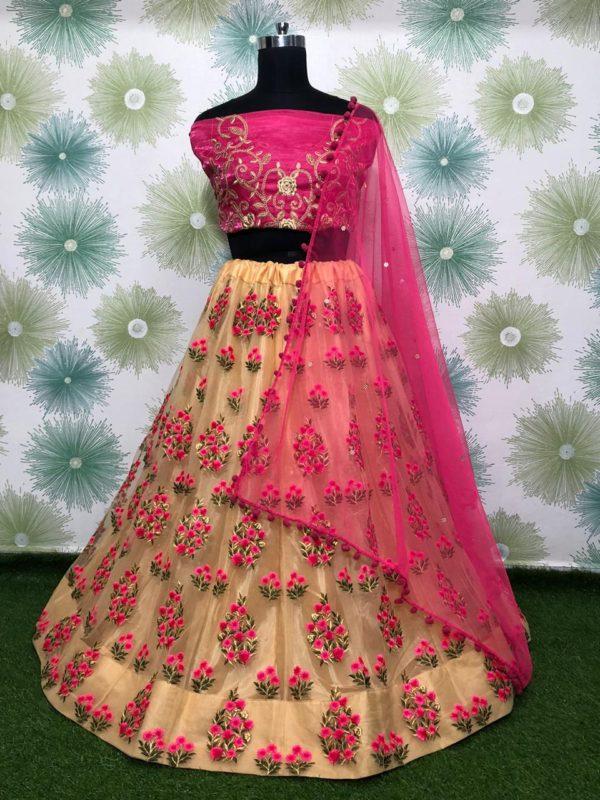zari-and-classic-embroidery-work-cream-color-heavy-net-party-wear-lehnga-choli
