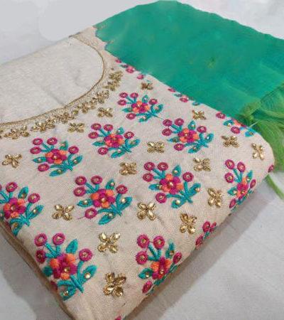 graceful-green-color-semi-model-silk-wedding-wear-salwar-suit