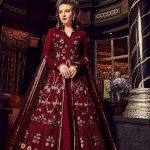 breathtaking-red-color-heavy-net-with-embroidery-work-anarkali-suit