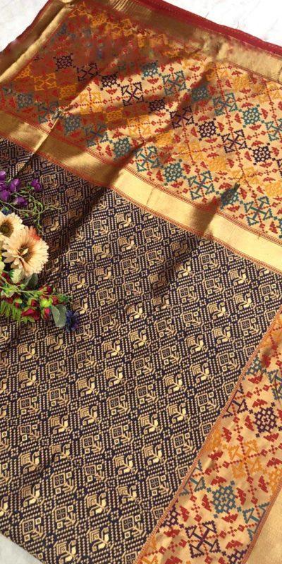 dazzling-navy-blue-color-soft-silk-traditional-wedding-wear-saree