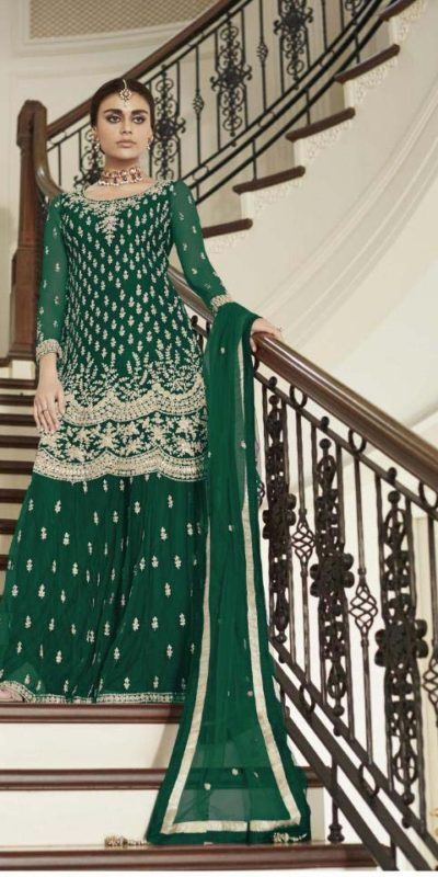 divine-green-color-heavy-net-with-codding-embroidery-work-plazo-suit