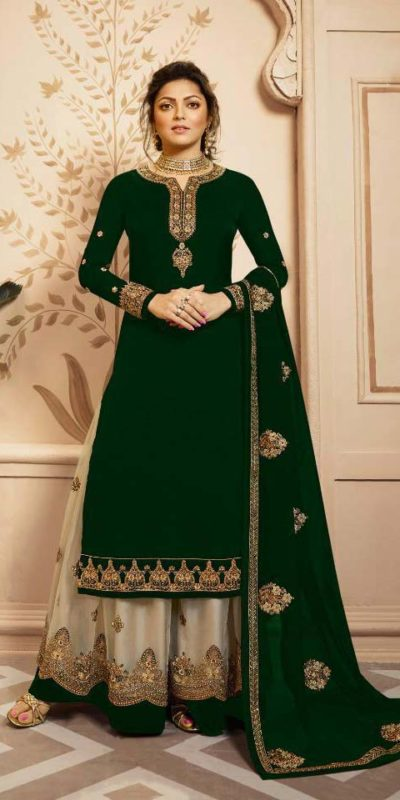 elegant-green-color-satin-georgette-with-embroidery-cording-work