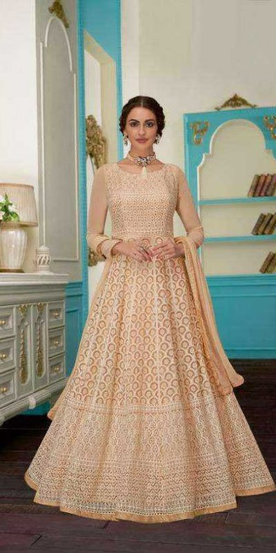 impeccable-cream-color-heavy-georgette-with-embroidery-work-anarkali-suit