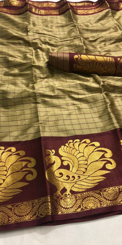 intoxicating-coffee-color-pure-cotton-traditional-wedding-wear-saree