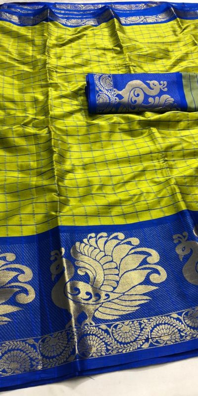 intoxicating-lime-green-color-pure-cotton-traditional-wedding-wear-saree