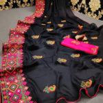 stunning-black-color-moss-chiffon-soft-silk-wedding-party-wear-saree