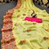 stunning-lemon-yellow-color-moss-chiffon-soft-silk-wedding-party-wear-saree