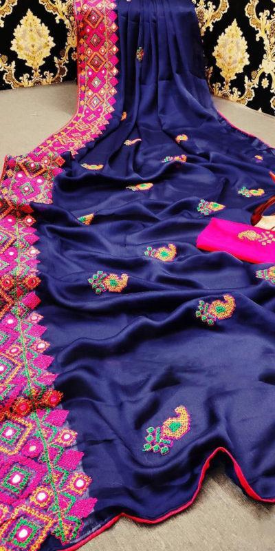 stunning-navy-blue-color-moss-chiffon-soft-silk-wedding-party-wear-saree