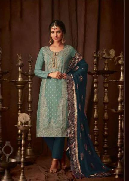 stunning-peacock-blue-color-heavy-faux-georgette-wedding-wear-salwar-suit