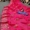stunning-pink-color-moss-chiffon-soft-silk-wedding-party-wear-saree