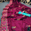 stunning-purple-color-moss-chiffon-soft-silk-wedding-party-wear-saree