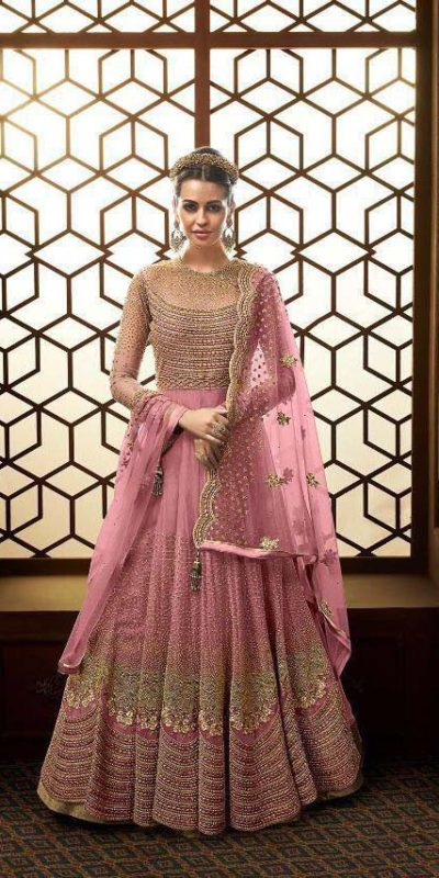 vibrant-pink-color-heavy-net-with-embroidery-work-stone-work-anarkali-suit