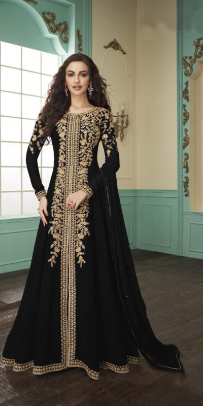 divine-black-color-heavy-fox-georgette-stone-work-traditional-wear-anarkali-suit