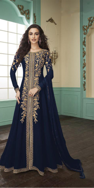 divine-blue-color-heavy-fox-georgette-stone-work-traditional-wear-anarkali-suit