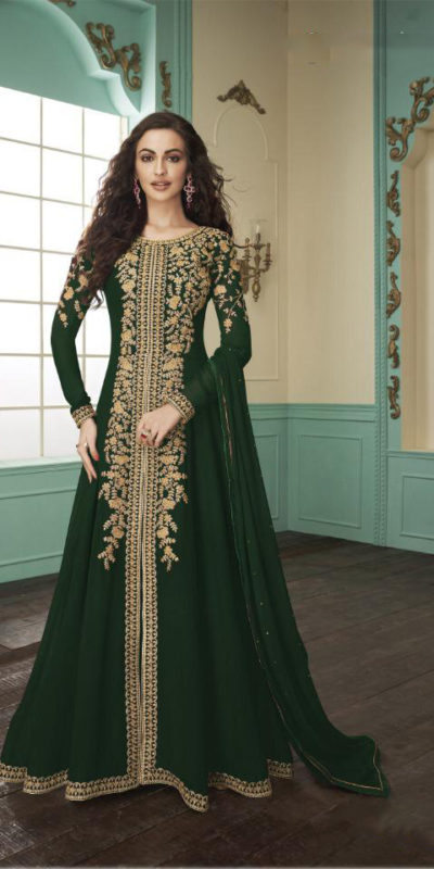 divine-green-color-heavy-fox-georgette-stone-work-traditional-wear-anarkali-suit