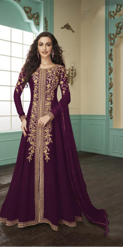 divine-purple-color-heavy-fox-georgette-stone-work-traditional-wear-anarkali-suit