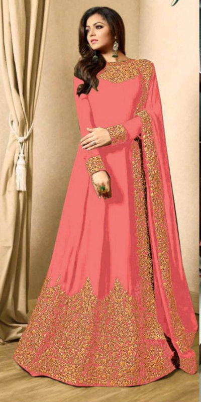 drashti-dhami-orange-vaishnavi-georgette-floor-length-anarkali