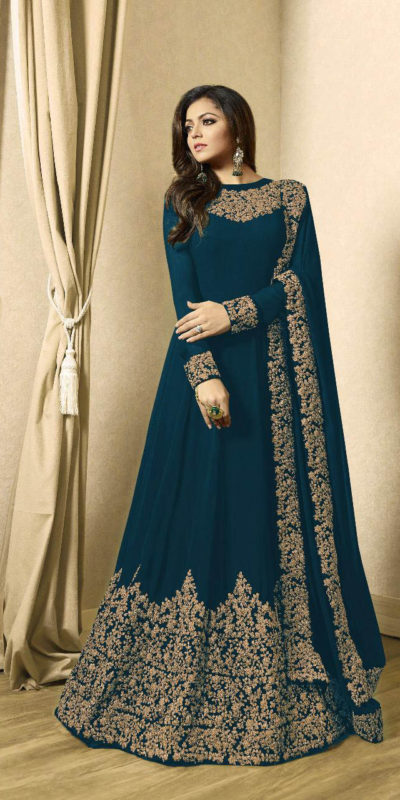 drashti-dhami-peacock-blue-vaishnavi-georgette-floor-length-anarkali