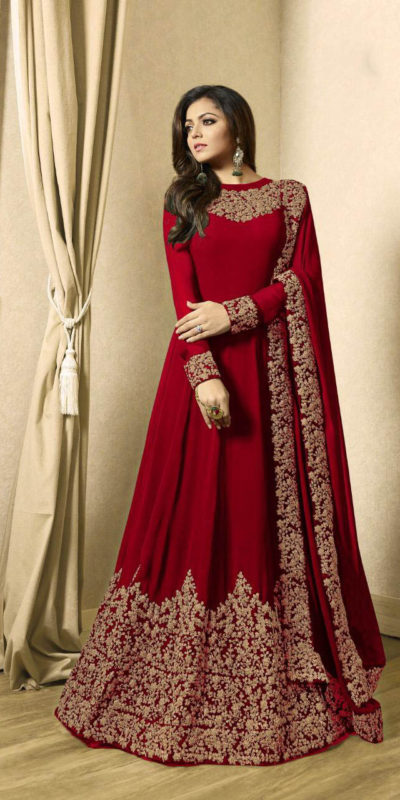 drashti-dhami-red-vaishnavi-georgette-floor-length-anarkali