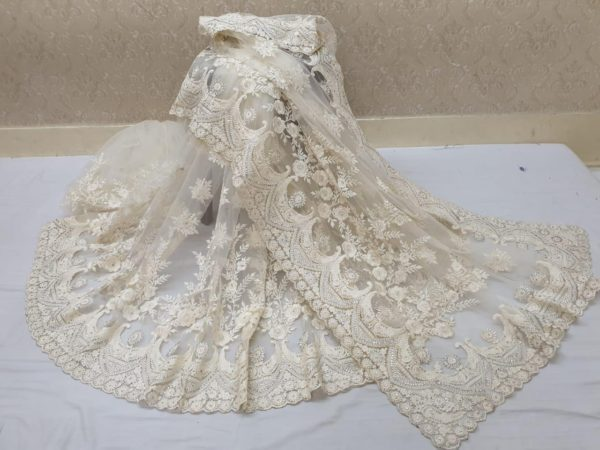 exotic-White -color-heavy-mono-net-with-beautiful-stone-work-saree