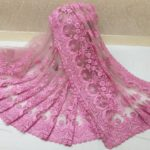 exotic-pink-color-heavy-mono-net-with-beautiful-stone-work-saree