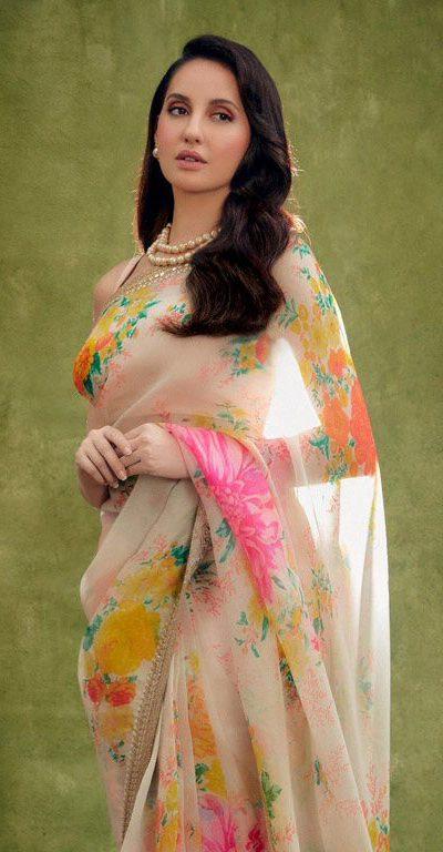 Nora Fatehi Looks Exquisite In Sabyasachi Organza Saree On India's Best Dancer