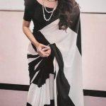 amazing-blackwhite-womens-party-wear-ultra-satin-saree