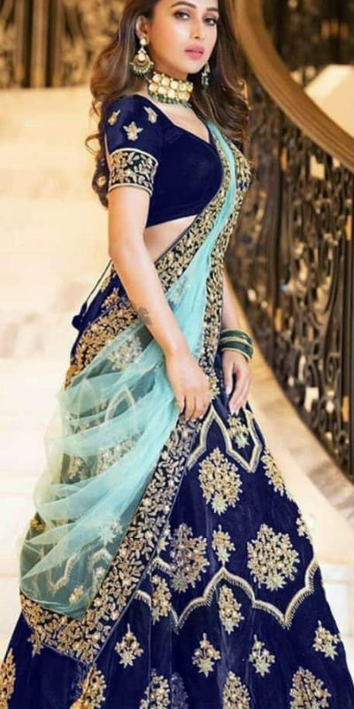 amazing-lehenga-for-womens-in-blue-color-with-heavy-velvet-choli