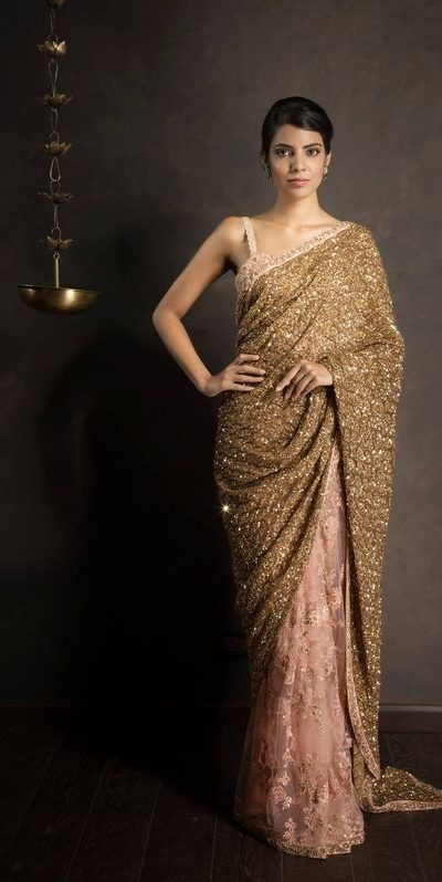 amazing-womens-wear-gold-color-fancy-sequence-work-half-saree