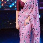anasuya-in-womens-party-wear-pink-color-georgette-with-printed-saree