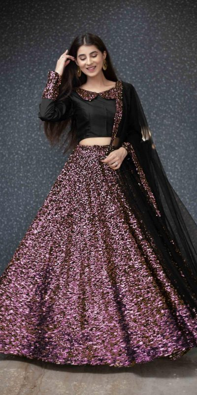 black-and-purple-color-full-sequence-heavy-velvet-lehenga-choli