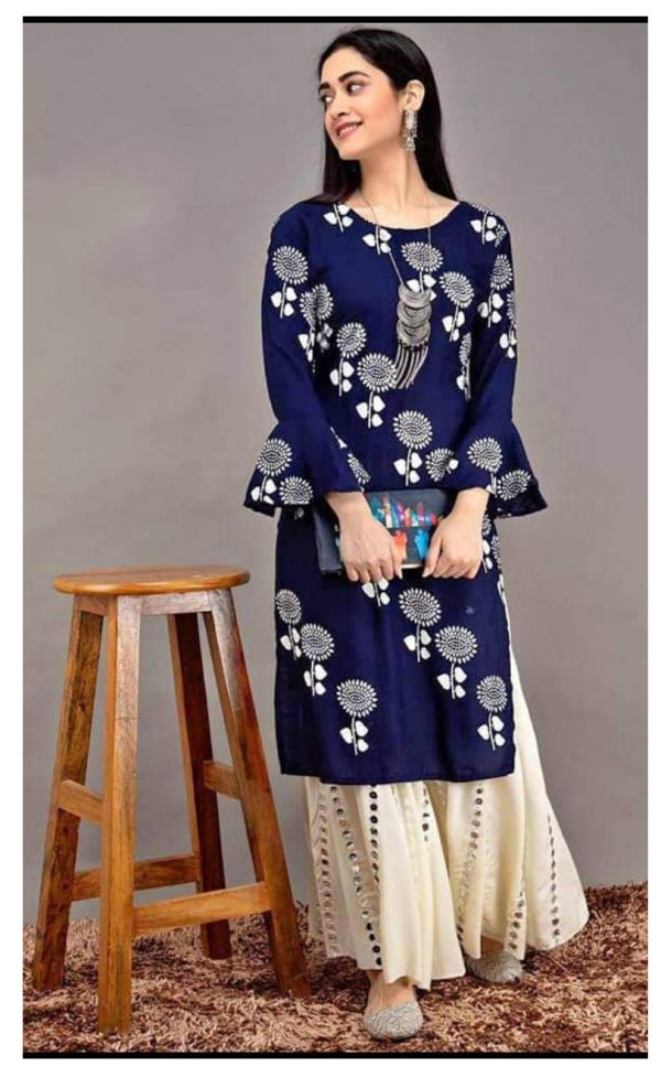 blue-color-heavy-rayon-floral-kurta-for-women-1