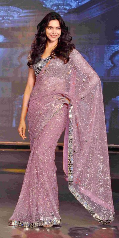 deepika-padukone-in-pink-color-georgette-with-sequence-mirror-work-saree