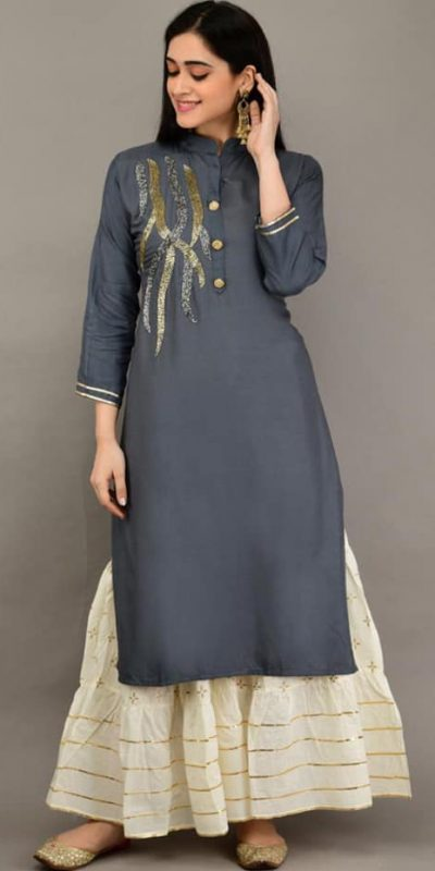 grey-color-heavy-rayon-with-khatli-work-kurti-with-plazzo