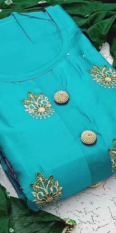 heavenly-cerulean-blue-color-pc-cotton-daily-wear-semi-stitched-dress-material
