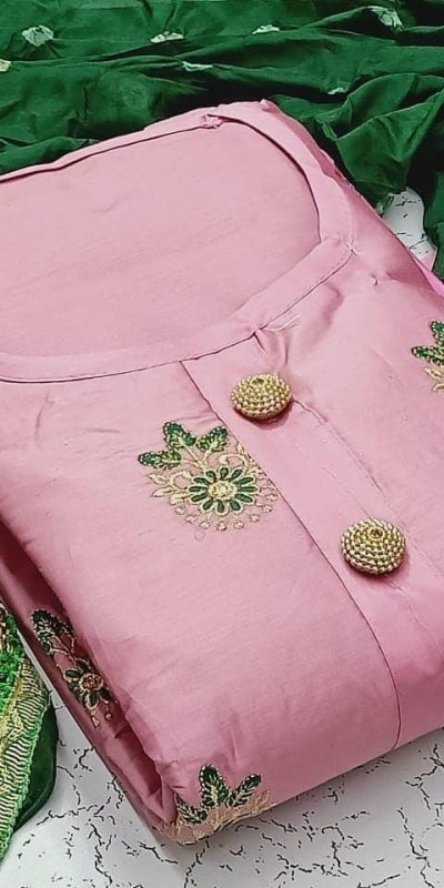 heavenly-pink-color-pc-cotton-daily-wear-semi-stitched-dress-material