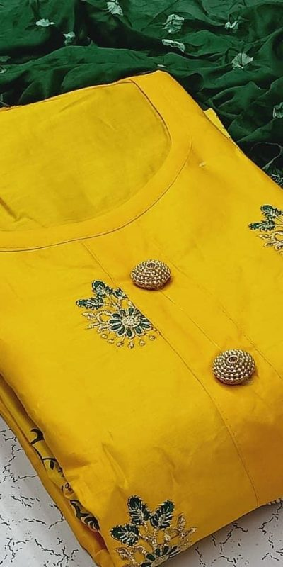 heavenly-yellow-color-pc-cotton-daily-wear-semi-stitched-dress-material