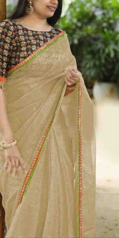 heavy-cotton-net-cream-color-saree-with-digital-printed-blouse