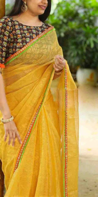heavy-cotton-net-yellow-color-saree-with-digital-printed-blouse