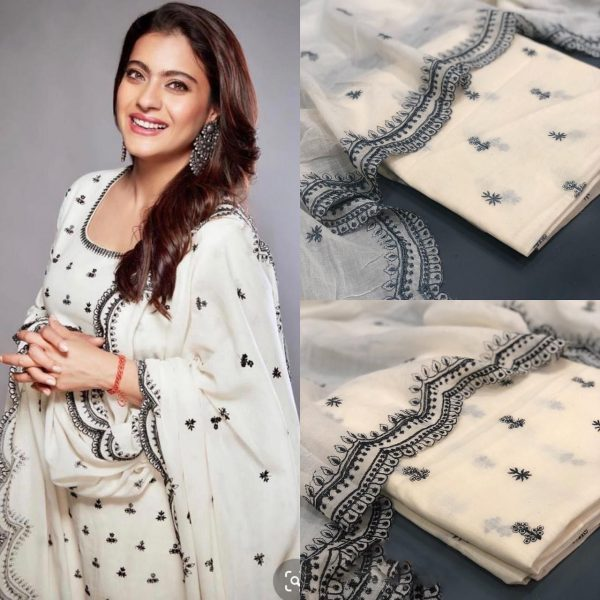 kajol-dazzling-look-in-white-color-pure-cotton-salwar-suit