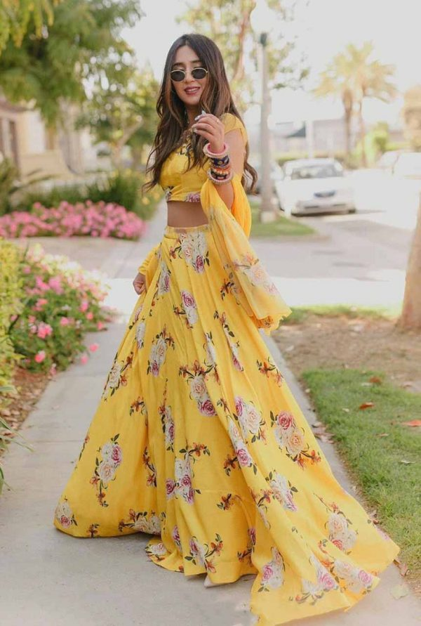 lehenga-for-womens-in-yellow-color-satin-floral-print