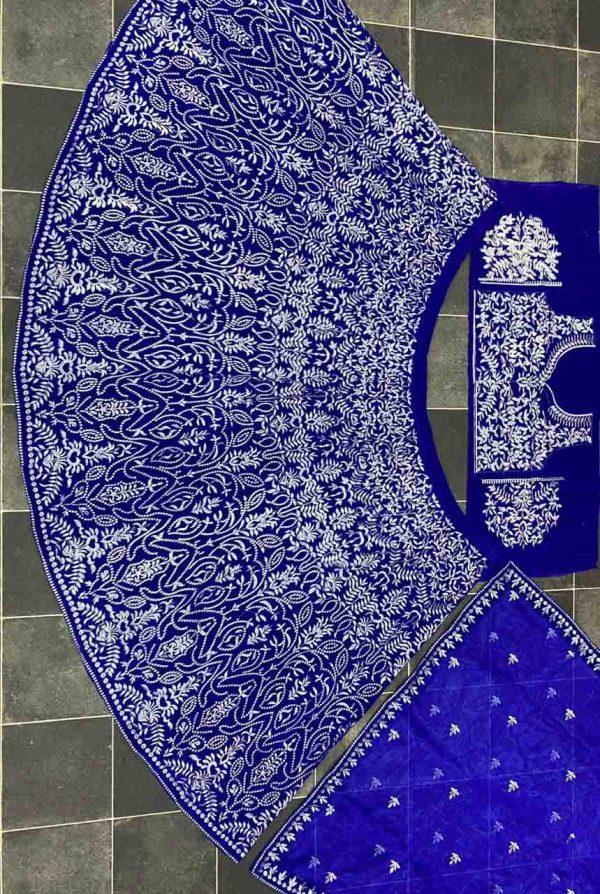 luminous-azure-blue-color-heavy-velvet-trendy-lehenga-choli